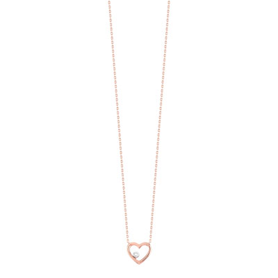 Collier o 375 rose diamant - vue V1