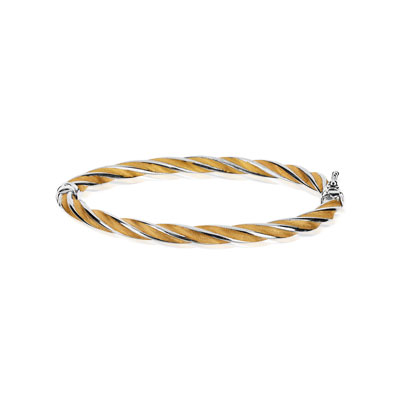Bracelet rigide or 375 2 tons - vue V1
