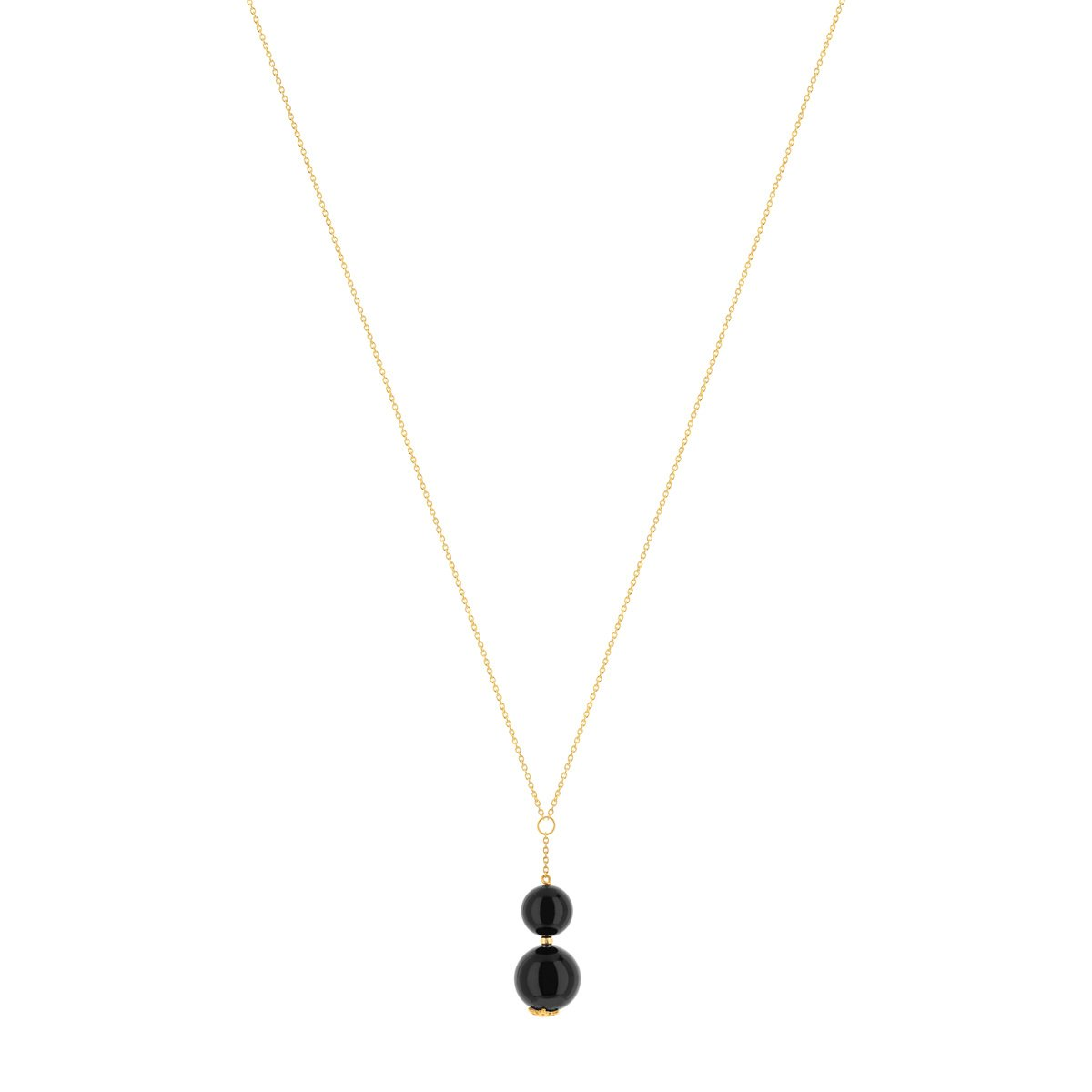 Collier or 375 onyx 45 cm - vue V1