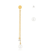 Boucles d'oreilles or jaune 375 p. chine zirconia
