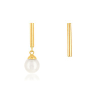 Boucles d'oreilles or 375 perle de culture de chine
