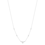 Collier or blanc 375 zirconia 45 cm
