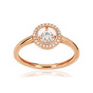 Bague or rose 375 diamants