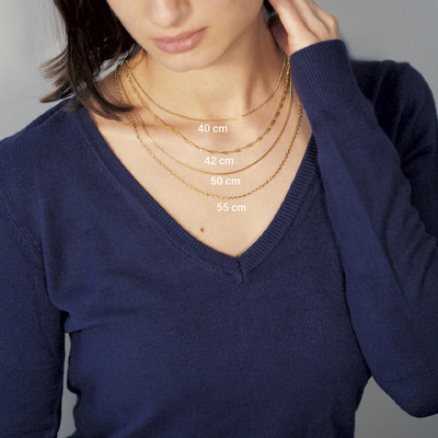 Collier or 375 45 cm - vue VD3