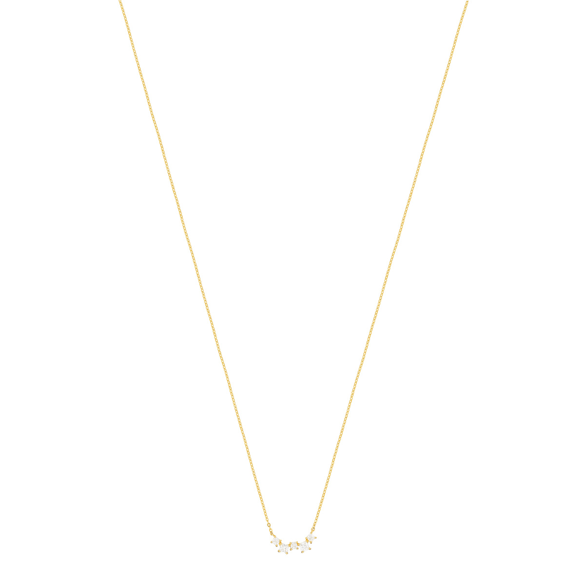 Collier or jaune 375 zirconias 42 cm - vue 1