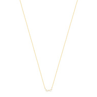 Collier or jaune 375 zirconias 42 cm