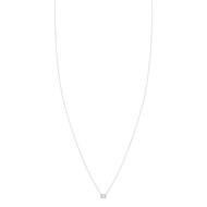 Collier or blanc 375 diamant