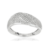 Bague or blanc 375 diamant