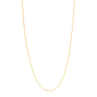 Collier or jaune 375 50 cm