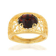 Bague or jaune 375 filigrane grenat