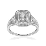 Bague or blanc 375 diamants