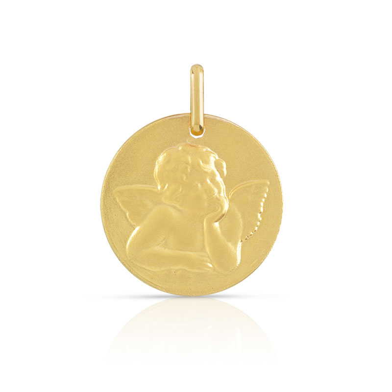 Medaille ange or 750 jaune