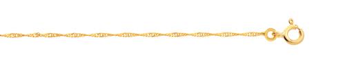 Chaîne maille torsadée or 750 jaune 45 cm
