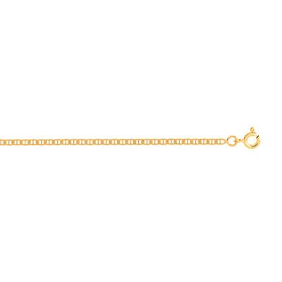 Chaîne maille marine or 750 jaune 40 cm