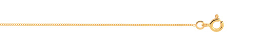 Chaîne maille gourmette or 750 jaune 45 cm