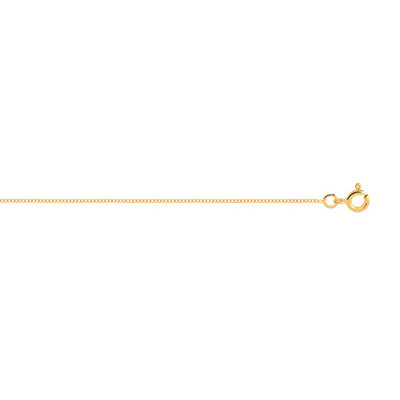 Chaîne maille gouremette or 750 jaune 50 cm