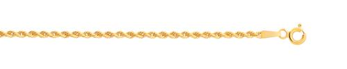 Chaîne maille corde torsadée or 750 jaune 45 cm