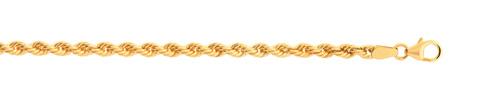 Chaîne maille corde torsadée or 750 jaune 40 cm