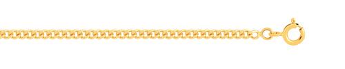 Chaîne maille gourmette or 750 jaune 50 cm