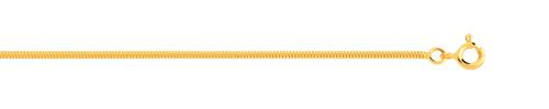 Chaîne maille serpentine or 750 jaune 50 cm