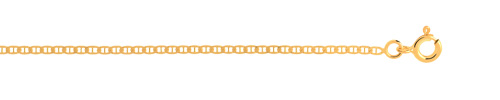 Chaîne maille marine or 750 jaune 50 cm