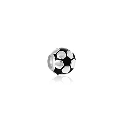 Charm's ballon de football argent 925 laque