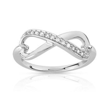 bague diamant signe infini