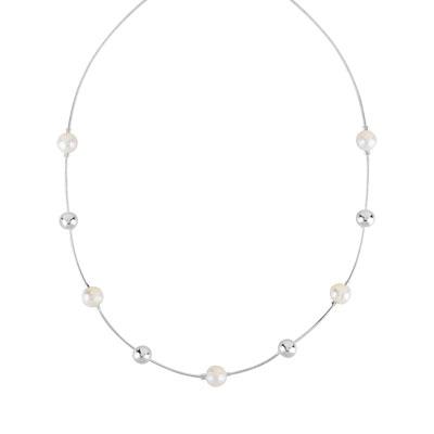 collier argent perle