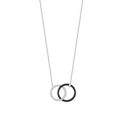 collier argent 925 c ramique zirconia femme collier maty. Black Bedroom Furniture Sets. Home Design Ideas