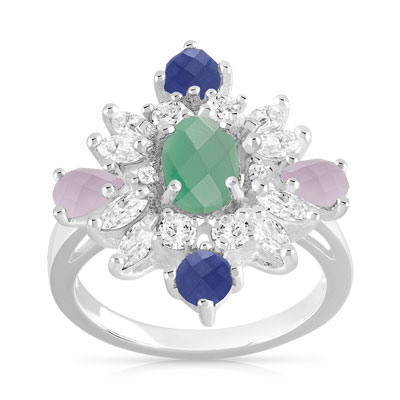 Bague argent 925 collection Marion Bartoli by MATY - vue 1