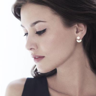 boucles d 39 oreilles argent 925 perles imitation femme. Black Bedroom Furniture Sets. Home Design Ideas