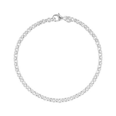 Bracelet argent 925 maille jaseron , vue V1