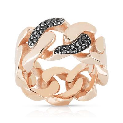 Bague argent 925 plaqué or rose diamants - Femme - Bague   MATY be83419e2289