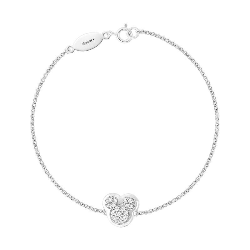 Disney Zirconia 925 Bracelet Mickey Argent EWD29HI