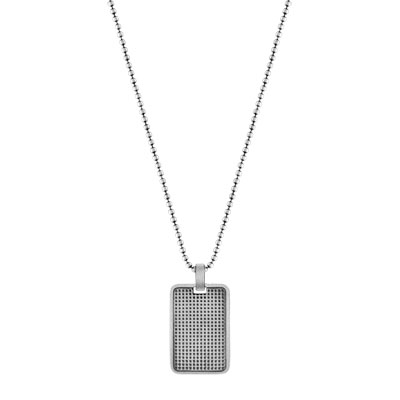 Collier argent 925 email - vue VD1
