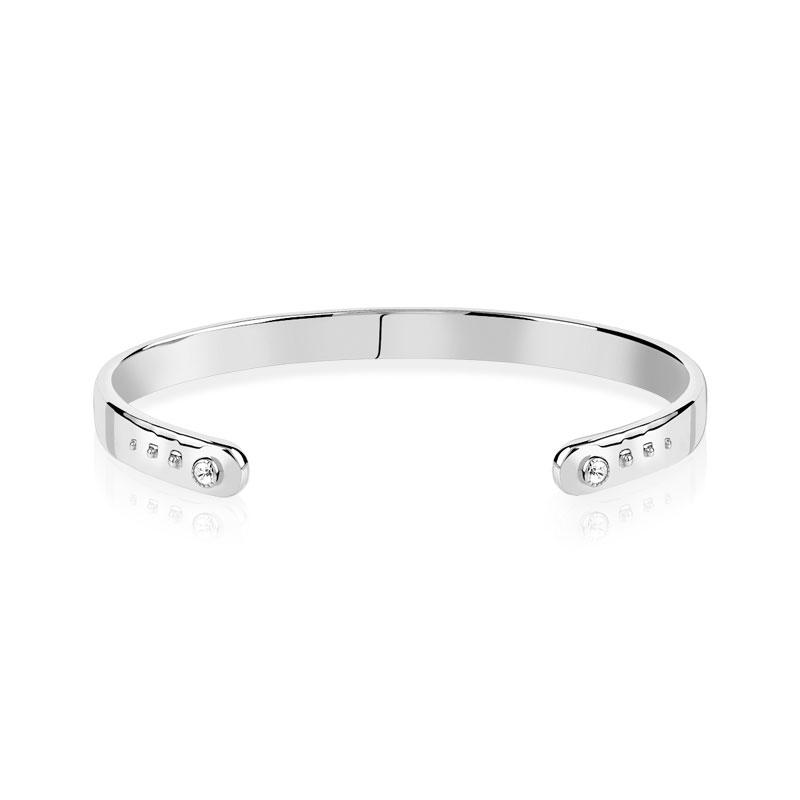 Bracelet jonc argent 925 zirconia