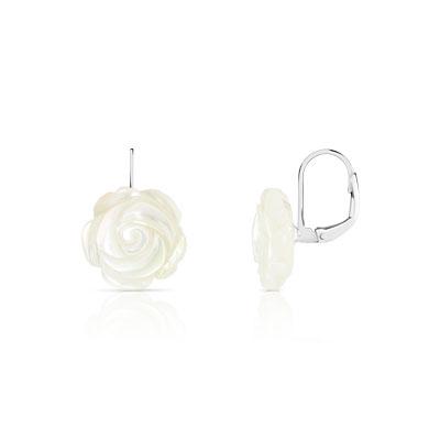 Boucles d oreilles argent 925 nacre - Femme - Autres   MATY dfe0fadaa7b