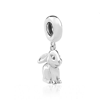 Charm's argent 925 lapin - vue V1