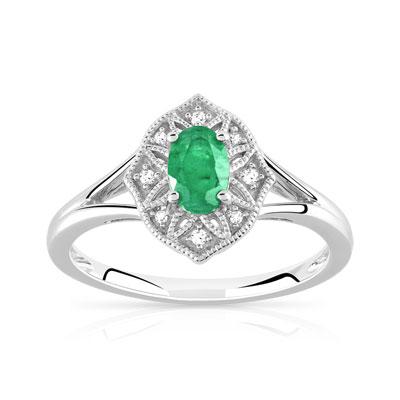 925 Bague Bague 925 925 Diamant Argent Argent Émeraude Diamant Argent Bague Émeraude 3L4ARq5j