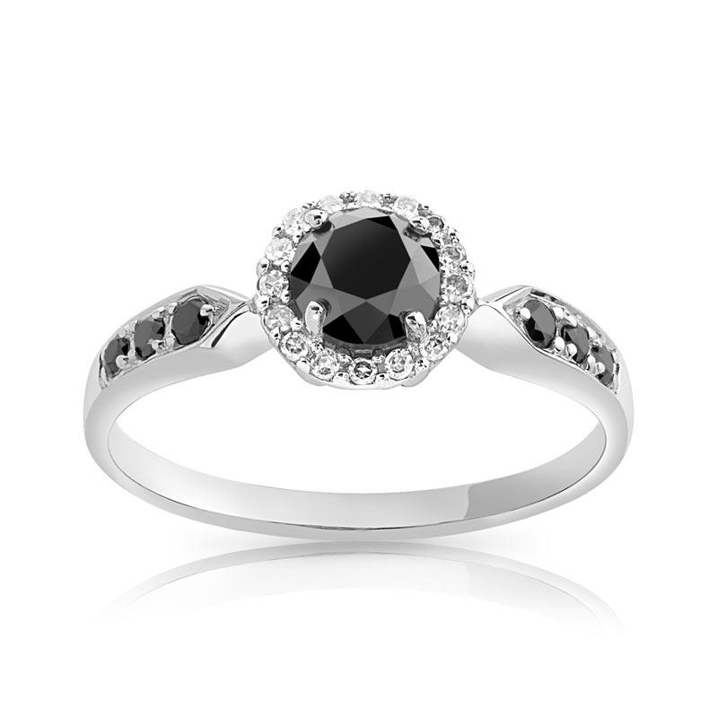 bague diamant noir pas cher