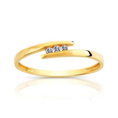 bague or 750 jaune diamant femme bague maty. Black Bedroom Furniture Sets. Home Design Ideas