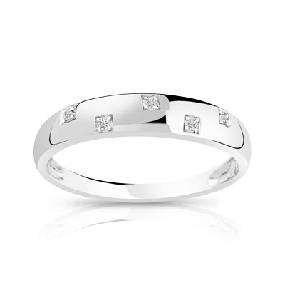 Bague homme or blanc 750