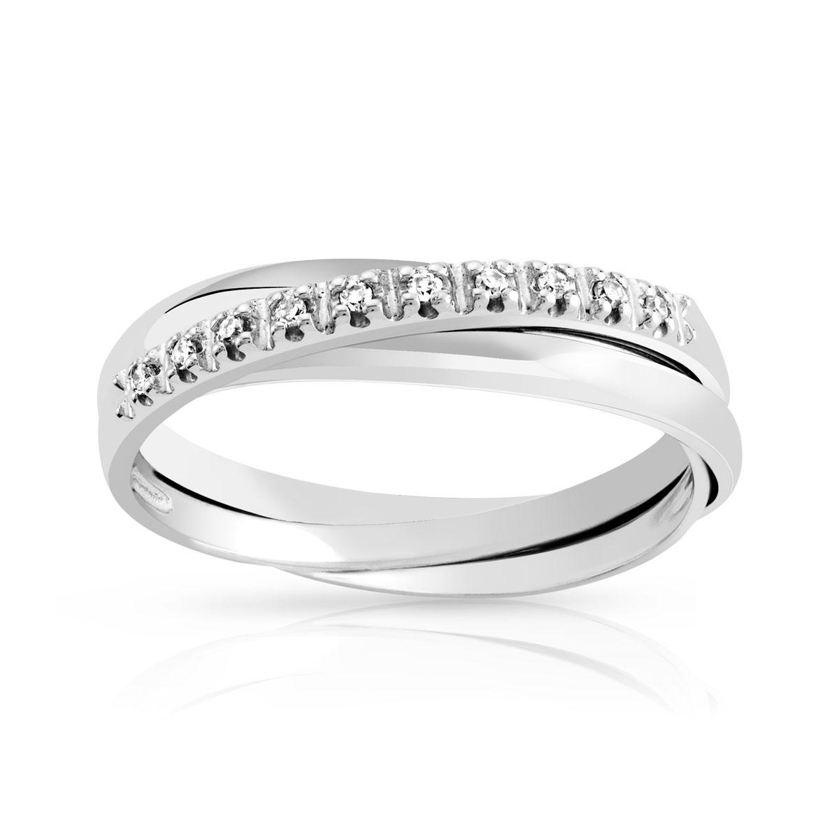 bague or 750 blanc diamant femme bague maty. Black Bedroom Furniture Sets. Home Design Ideas