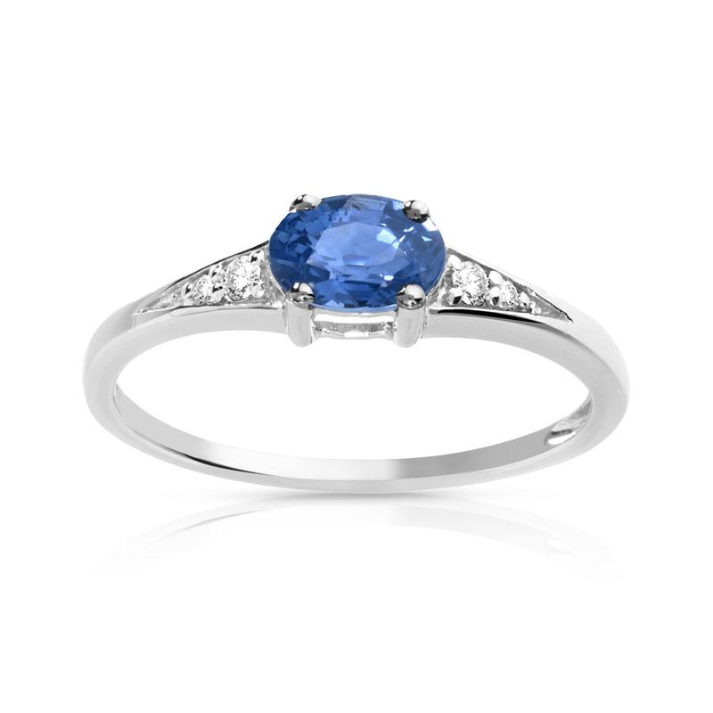 Bien-aimé Bague or 750 blanc saphir et diamant - Femme - Bague   MATY HH89