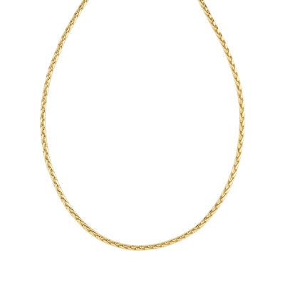 Collier plaqué or maill palmier 45 cm - vue V1