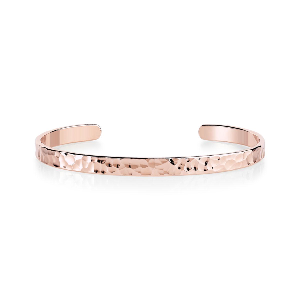 Bracelet plaqué or rose 60 mm , vue V1