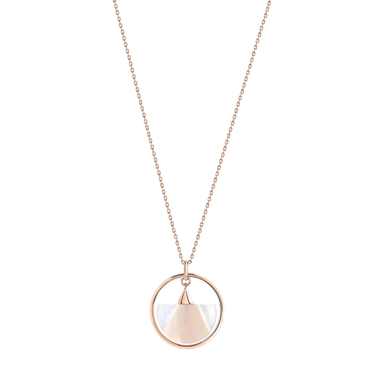 Collier plaqué or rose nacre