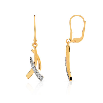 boucles d/'oreille en plaqué or pendante 7 cm réf 44