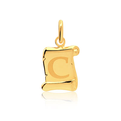 Pendentif initiale or homme