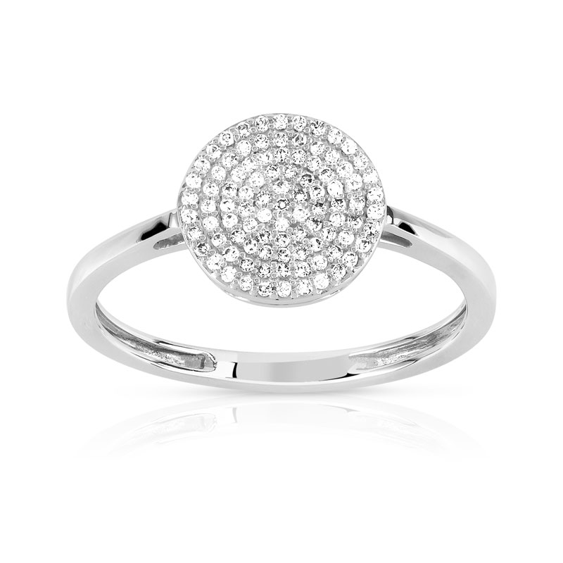 bague or blanc diamant fine